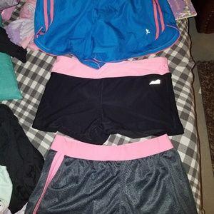 Athletic shorts 3 pairs